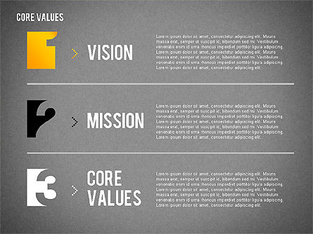 Core Values Presentation Concept, Slide 15, 02183, Business Models — PoweredTemplate.com