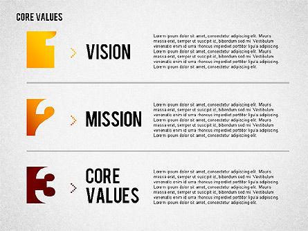 Core Values Presentation Concept, Slide 7, 02183, Business Models — PoweredTemplate.com