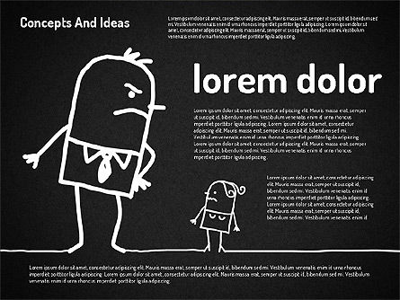 Concepts and Ideas with Characters, Slide 14, 02186, Shapes — PoweredTemplate.com