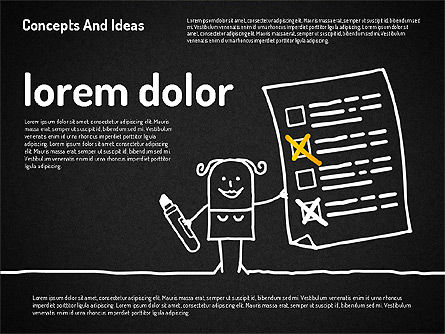 Concepts and Ideas with Characters, Slide 15, 02186, Shapes — PoweredTemplate.com