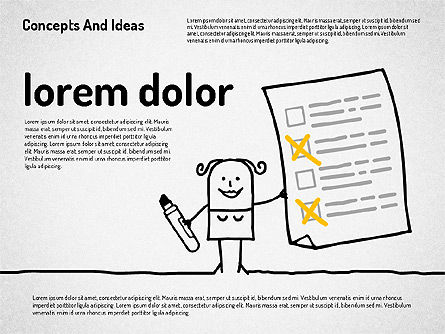 Concepts and Ideas with Characters, Slide 7, 02186, Shapes — PoweredTemplate.com