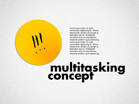 Multitasking Concept Presentation Template, 02187, Presentation Templates — PoweredTemplate.com