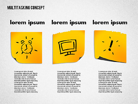 Multitasking Concept Presentation Template, Slide 3, 02187, Presentation Templates — PoweredTemplate.com