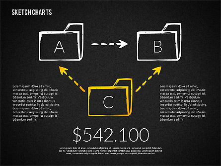 Financial Sketch Style Charts, Slide 10, 02188, Business Models — PoweredTemplate.com