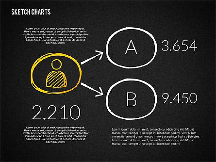 Financial Sketch Style Charts, Slide 11, 02188, Business Models — PoweredTemplate.com