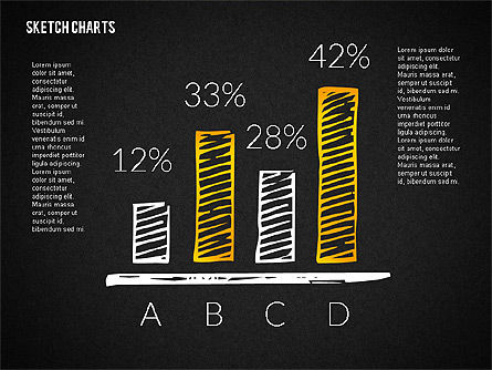 Financial Sketch Style Charts, Slide 12, 02188, Business Models — PoweredTemplate.com