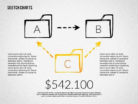 Financial Sketch Style Charts, Slide 2, 02188, Business Models — PoweredTemplate.com