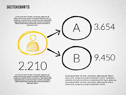 Financial Sketch Style Charts, Slide 3, 02188, Business Models — PoweredTemplate.com