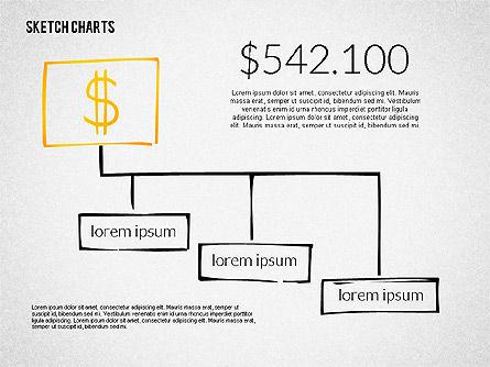 Financial Sketch Style Charts, Slide 6, 02188, Business Models — PoweredTemplate.com