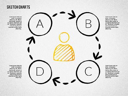 Financial Sketch Style Charts, Slide 7, 02188, Business Models — PoweredTemplate.com