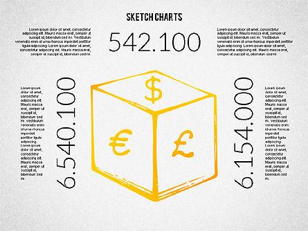 Financial Sketch Style Charts, Slide 8, 02188, Business Models — PoweredTemplate.com