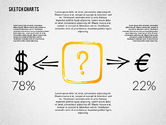 Business Models: Financial Sketch Style Charts #02188