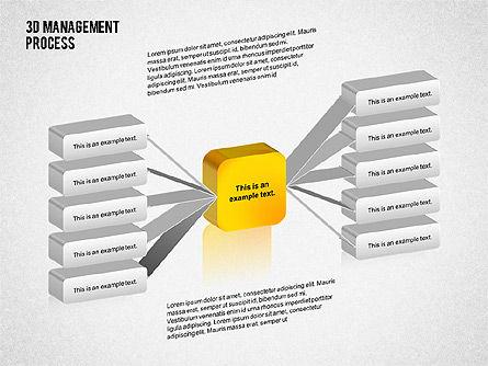 3D Management Process Flowchart, Slide 2, 02189, Process Diagrams — PoweredTemplate.com
