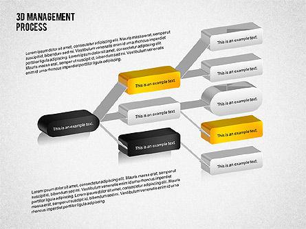 3D Management Process Flowchart, Slide 3, 02189, Process Diagrams — PoweredTemplate.com