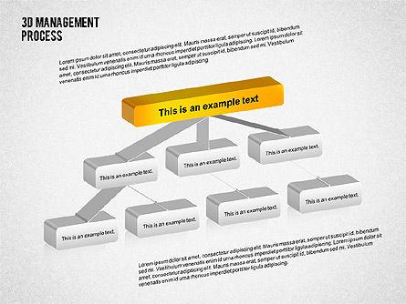 3D Management Process Flowchart, Slide 4, 02189, Process Diagrams — PoweredTemplate.com