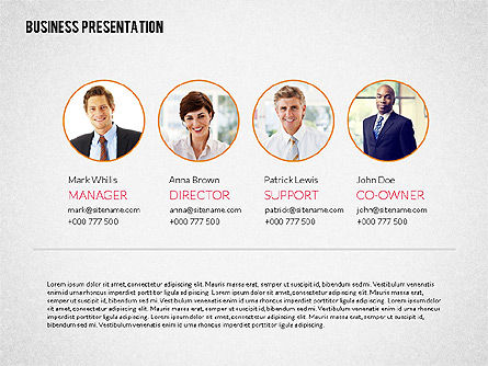 Business Presentation Template, 02190, Presentation Templates — PoweredTemplate.com