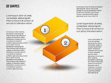 Group of 3D Shapes, Slide 2, 02192, Shapes — PoweredTemplate.com
