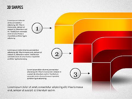 Group of 3D Shapes, Slide 3, 02192, Shapes — PoweredTemplate.com