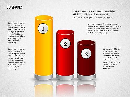 Group of 3D Shapes, Slide 4, 02192, Shapes — PoweredTemplate.com
