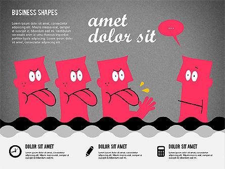 Funny Cartoon Heads, Slide 11, 02196, Shapes — PoweredTemplate.com