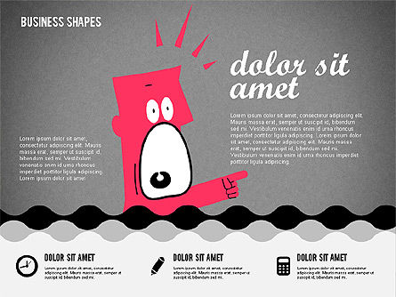 Funny Cartoon Heads, Slide 12, 02196, Shapes — PoweredTemplate.com