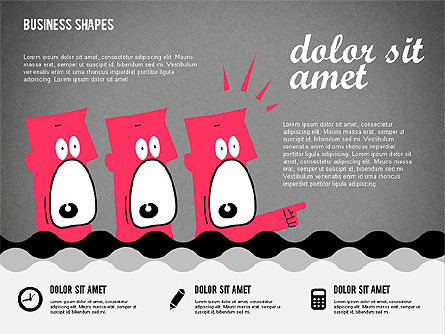 Funny Cartoon Heads, Slide 14, 02196, Shapes — PoweredTemplate.com