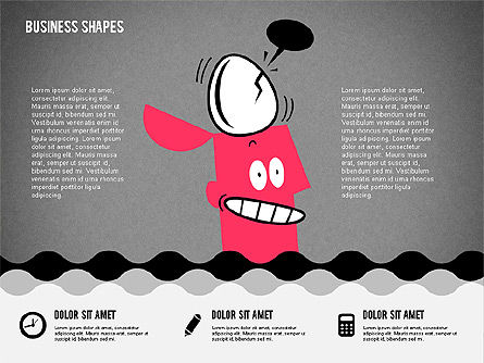 Funny Cartoon Heads, Slide 15, 02196, Shapes — PoweredTemplate.com