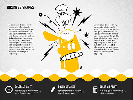 Funny Cartoon Heads, Slide 2, 02196, Shapes — PoweredTemplate.com