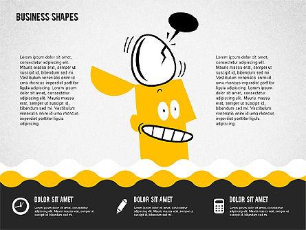 Funny Cartoon Heads, Slide 7, 02196, Shapes — PoweredTemplate.com