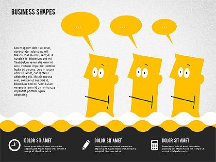 Funny Cartoon Heads, Slide 8, 02196, Shapes — PoweredTemplate.com