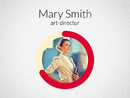 Art Director Resume Template, 02198, Presentation Templates — PoweredTemplate.com