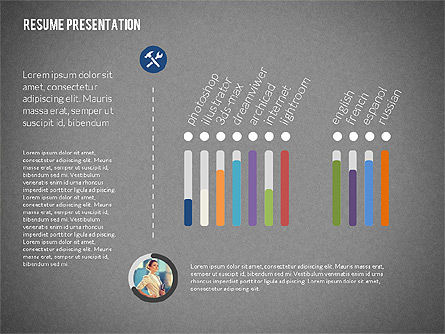 Art Director Resume Template, Slide 10, 02198, Presentation Templates — PoweredTemplate.com