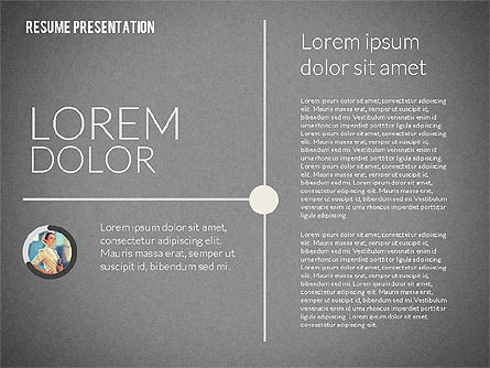 Art Director Resume Template, Slide 11, 02198, Presentation Templates — PoweredTemplate.com