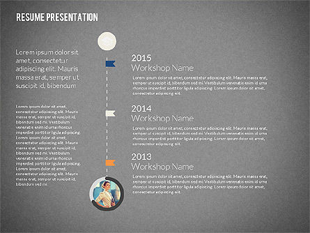 Art Director Resume Template, Slide 12, 02198, Presentation Templates — PoweredTemplate.com