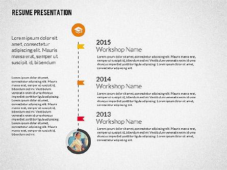 Art Director Resume Template, Slide 4, 02198, Presentation Templates — PoweredTemplate.com