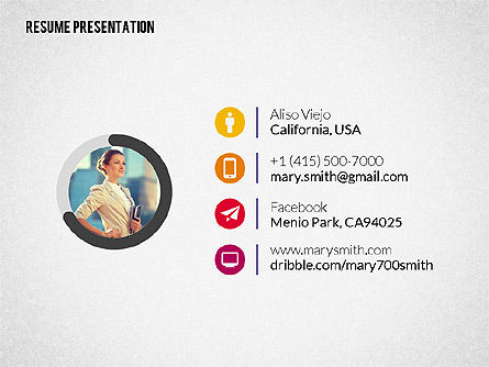 Art Director Resume Template, Slide 8, 02198, Presentation Templates — PoweredTemplate.com