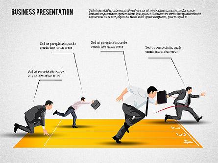 Business Competition Concept, 02200, Presentation Templates — PoweredTemplate.com