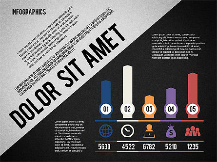 Presentation Template with Infographics, Slide 10, 02202, Presentation Templates — PoweredTemplate.com