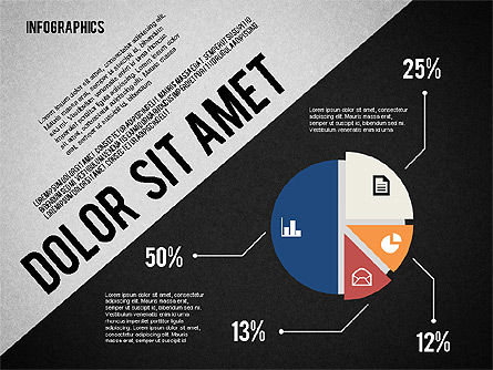 Presentation Template with Infographics, Slide 11, 02202, Presentation Templates — PoweredTemplate.com