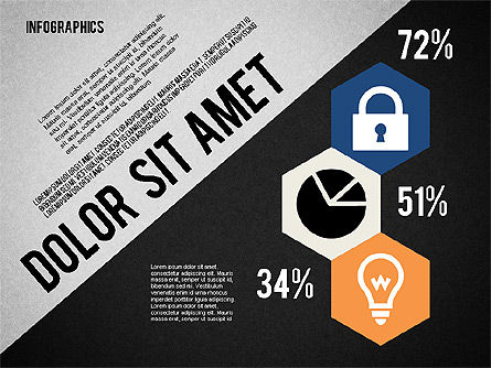 Presentation Template with Infographics, Slide 12, 02202, Presentation Templates — PoweredTemplate.com