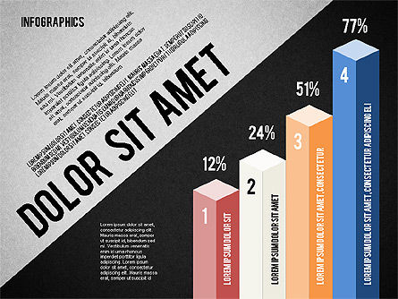 Presentation Template with Infographics, Slide 13, 02202, Presentation Templates — PoweredTemplate.com