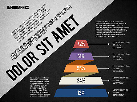 Presentation Template with Infographics, Slide 14, 02202, Presentation Templates — PoweredTemplate.com