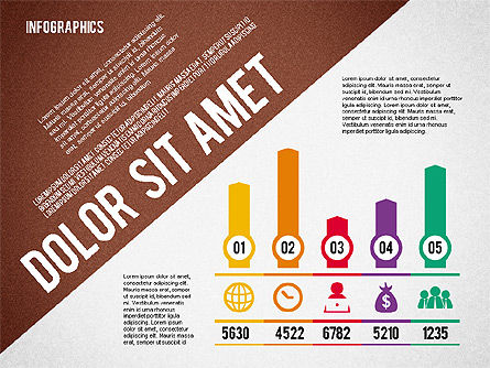 Presentation Template with Infographics, Slide 2, 02202, Presentation Templates — PoweredTemplate.com