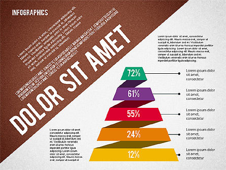 Presentation Template with Infographics, Slide 6, 02202, Presentation Templates — PoweredTemplate.com