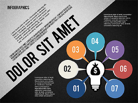 Presentation Template with Infographics, Slide 9, 02202, Presentation Templates — PoweredTemplate.com