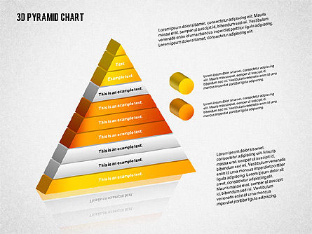 Layered 3D Pyramid, 02203, Business Models — PoweredTemplate.com