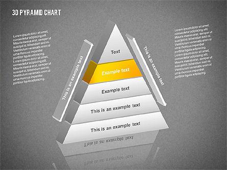 Layered 3D Pyramid, Slide 10, 02203, Business Models — PoweredTemplate.com