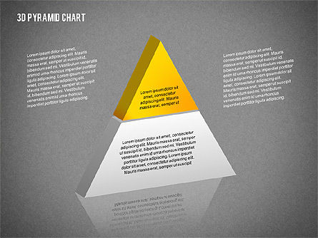 Layered 3D Pyramid, Slide 12, 02203, Business Models — PoweredTemplate.com