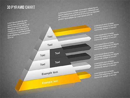 Layered 3D Pyramid, Slide 13, 02203, Business Models — PoweredTemplate.com