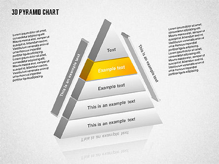 Layered 3D Pyramid, Slide 2, 02203, Business Models — PoweredTemplate.com